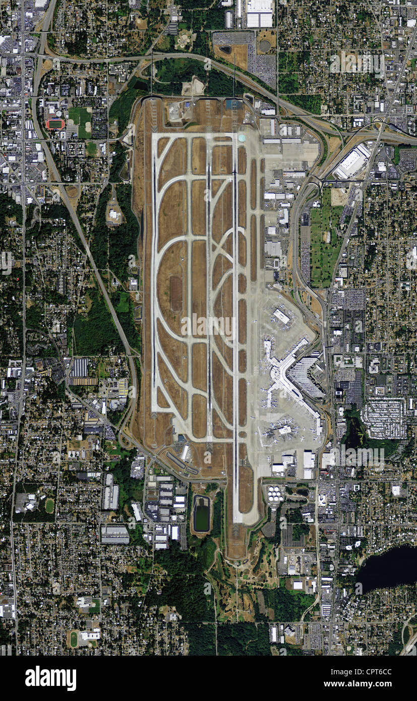 aerial photo map of Seattle Tacoma International Airport SeaTac