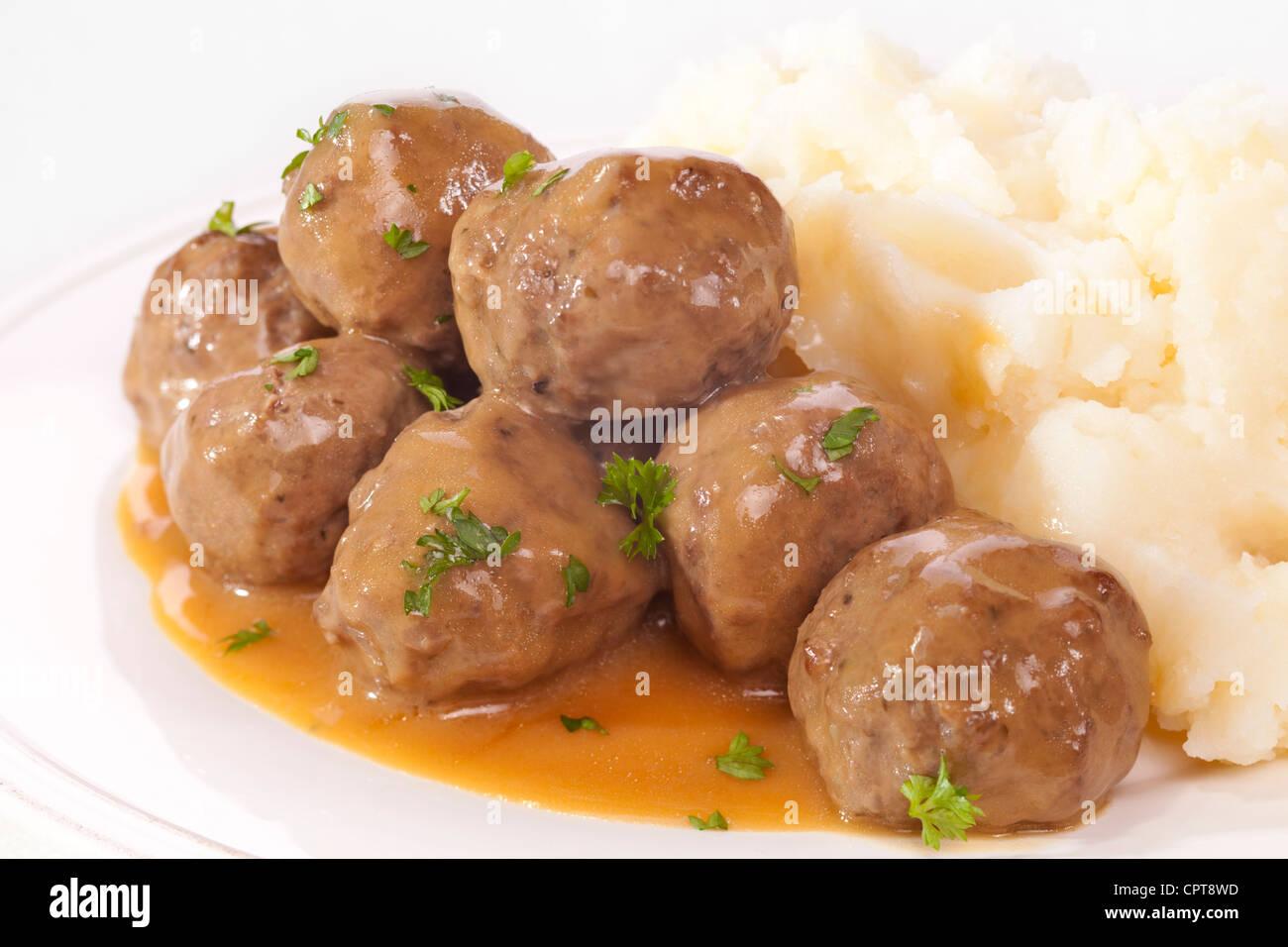 Swedish Meatballs And Mashed Potatoes