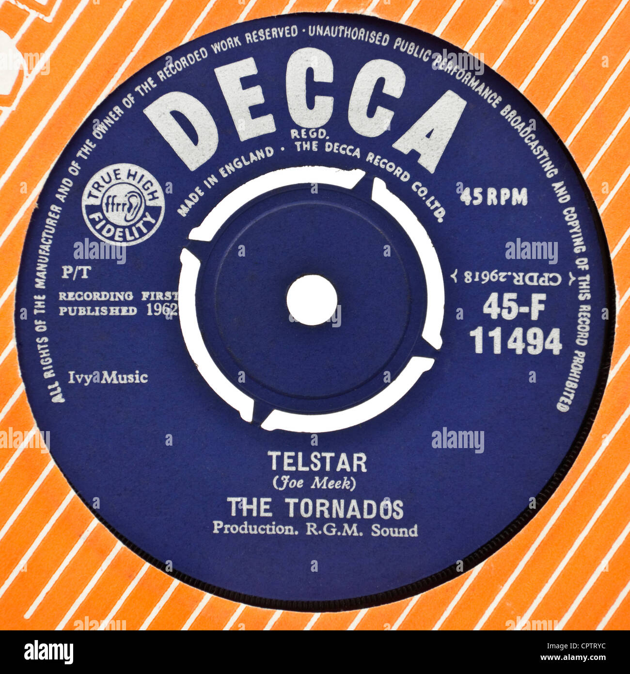 The Tornados Telstar 7 Quot Vinyl Record 1962 First