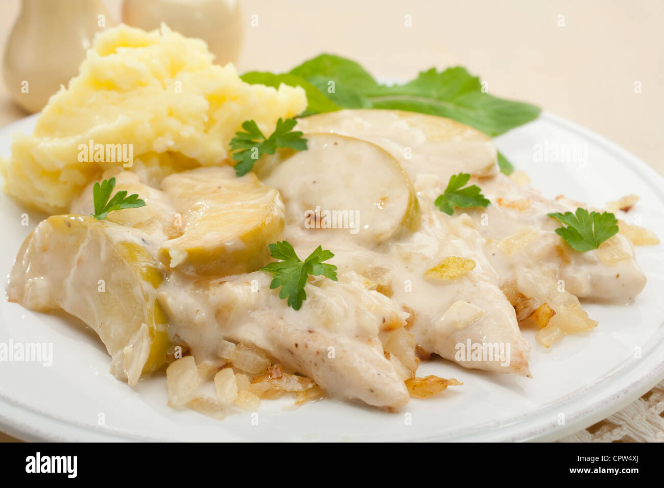 Normandy chicken recipe cider – Food in graphics