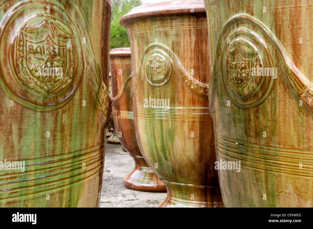 France gard anduze anduze vases les enfants de boisset pottery stock photo r - Poterie les enfants de boisset ...