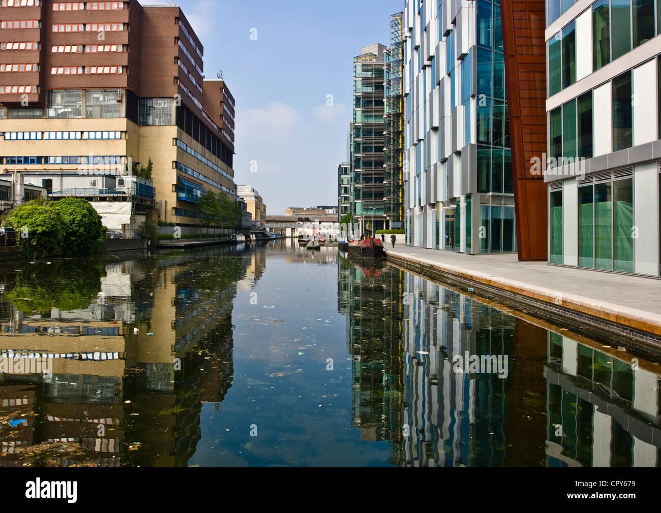 Modern Architecture London England modern architecture on regent's canal at paddington basin london