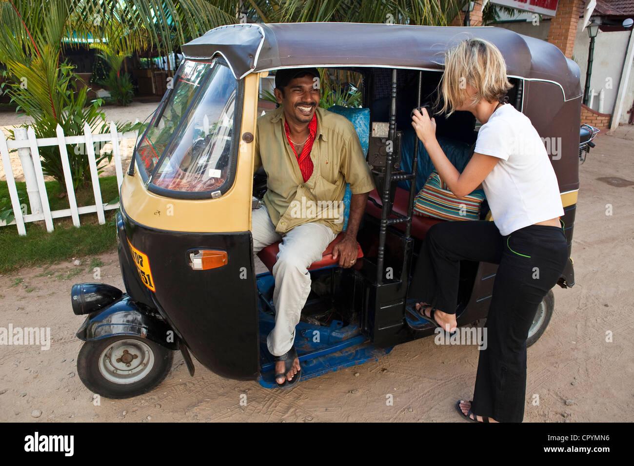 Car interior kochi - India Kerala State Kochi Cochin Tourist Negociating A Tuk Tuk Taxi