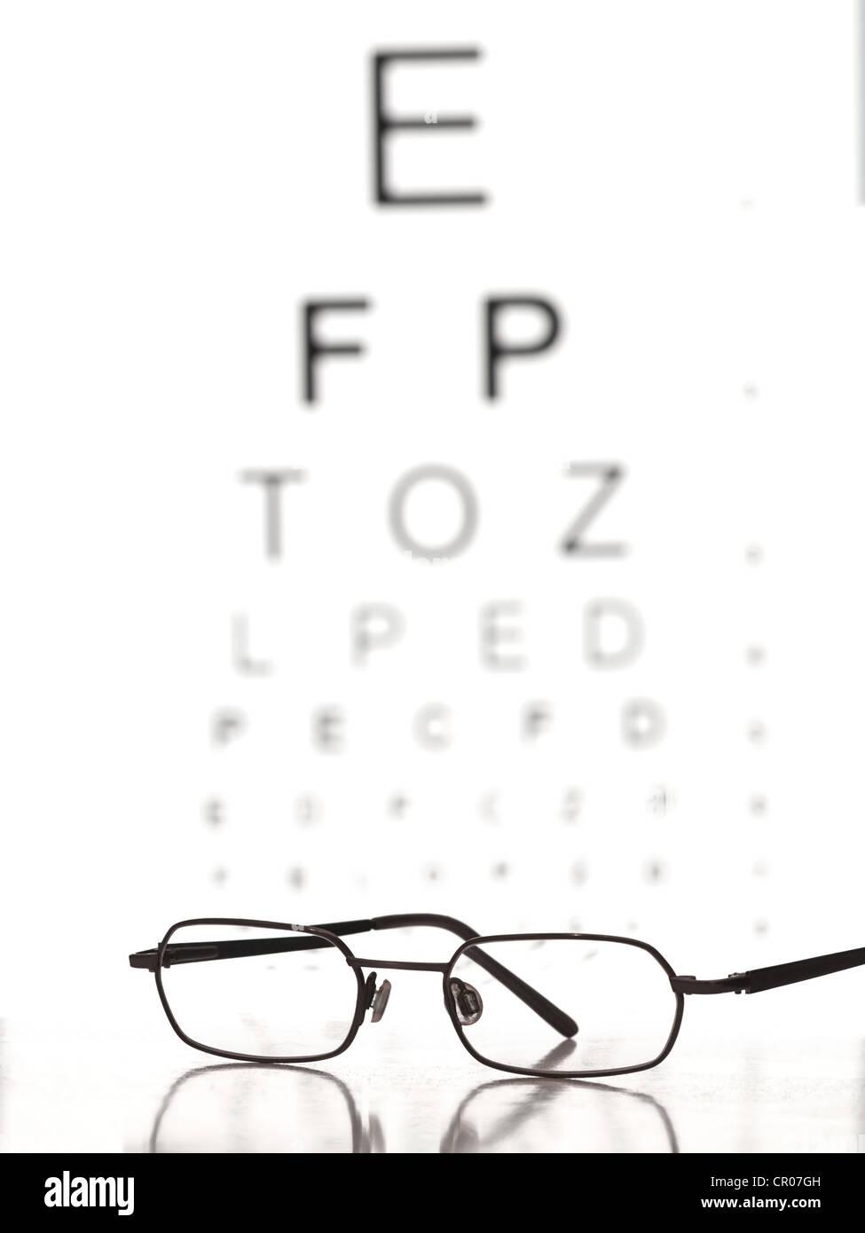 Glasses and the snellen eye chart for eye sight testinghealth glasses and the snellen eye chart for eye sight testinghealth care and medicine themes nvjuhfo Gallery