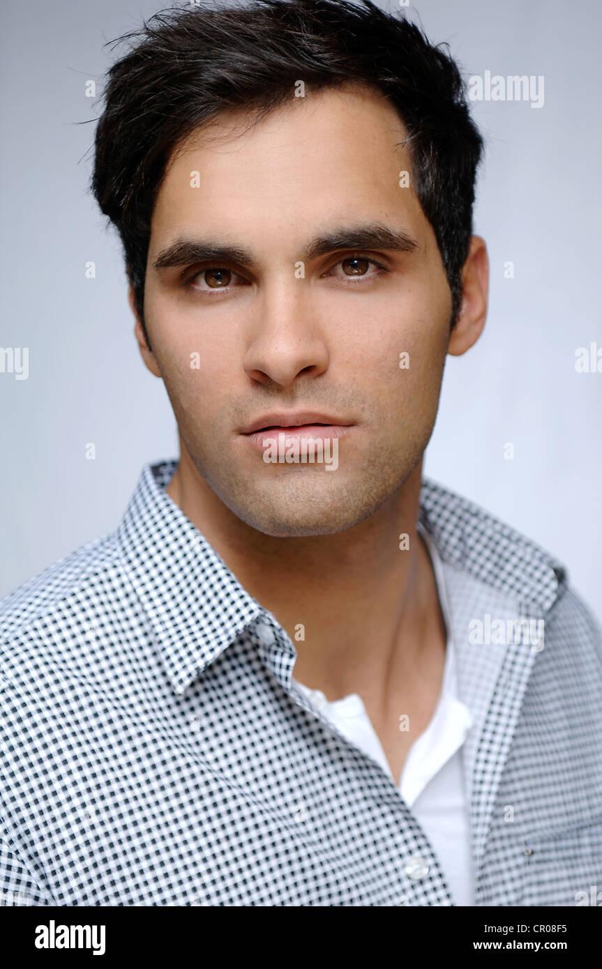 21-year-old Mediterranean-looking Man, Portrait Stock