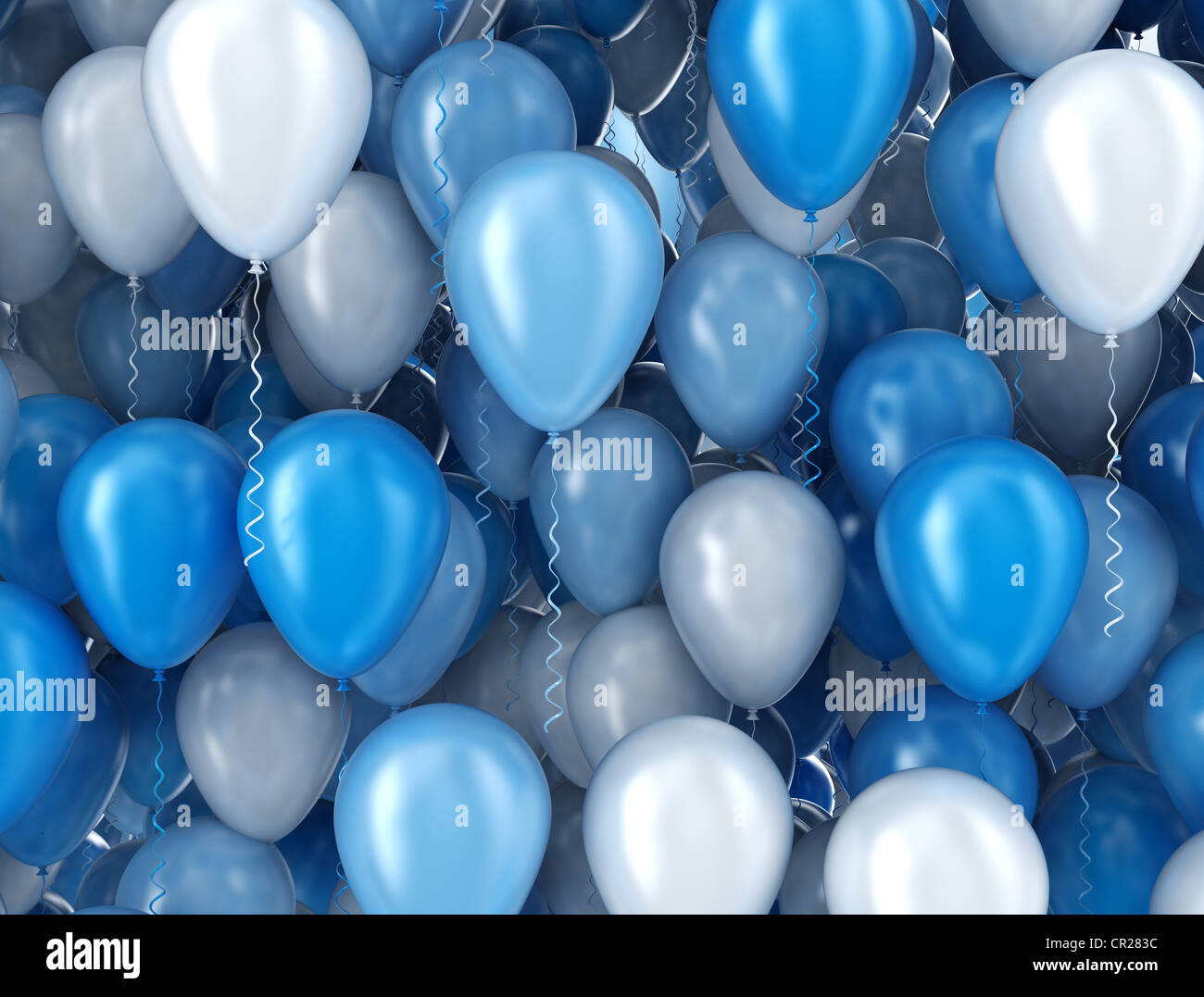 blue and silver balloons background stock photo royalty