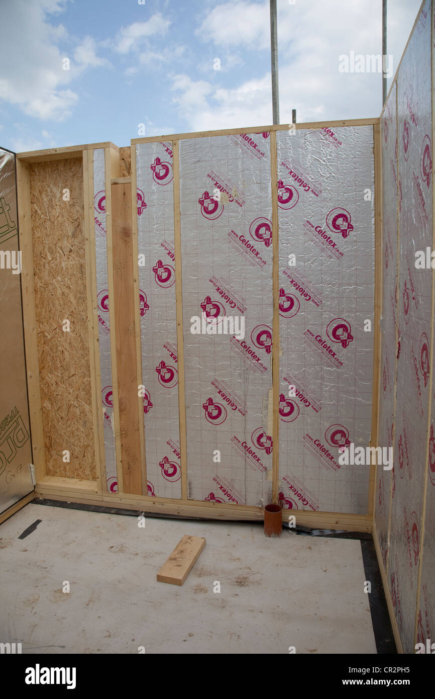 stud walls stock photos stud walls stock images alamy celotex insulation in stud walls timber frame house colemans hill farm ecobuild mickleton uk stock