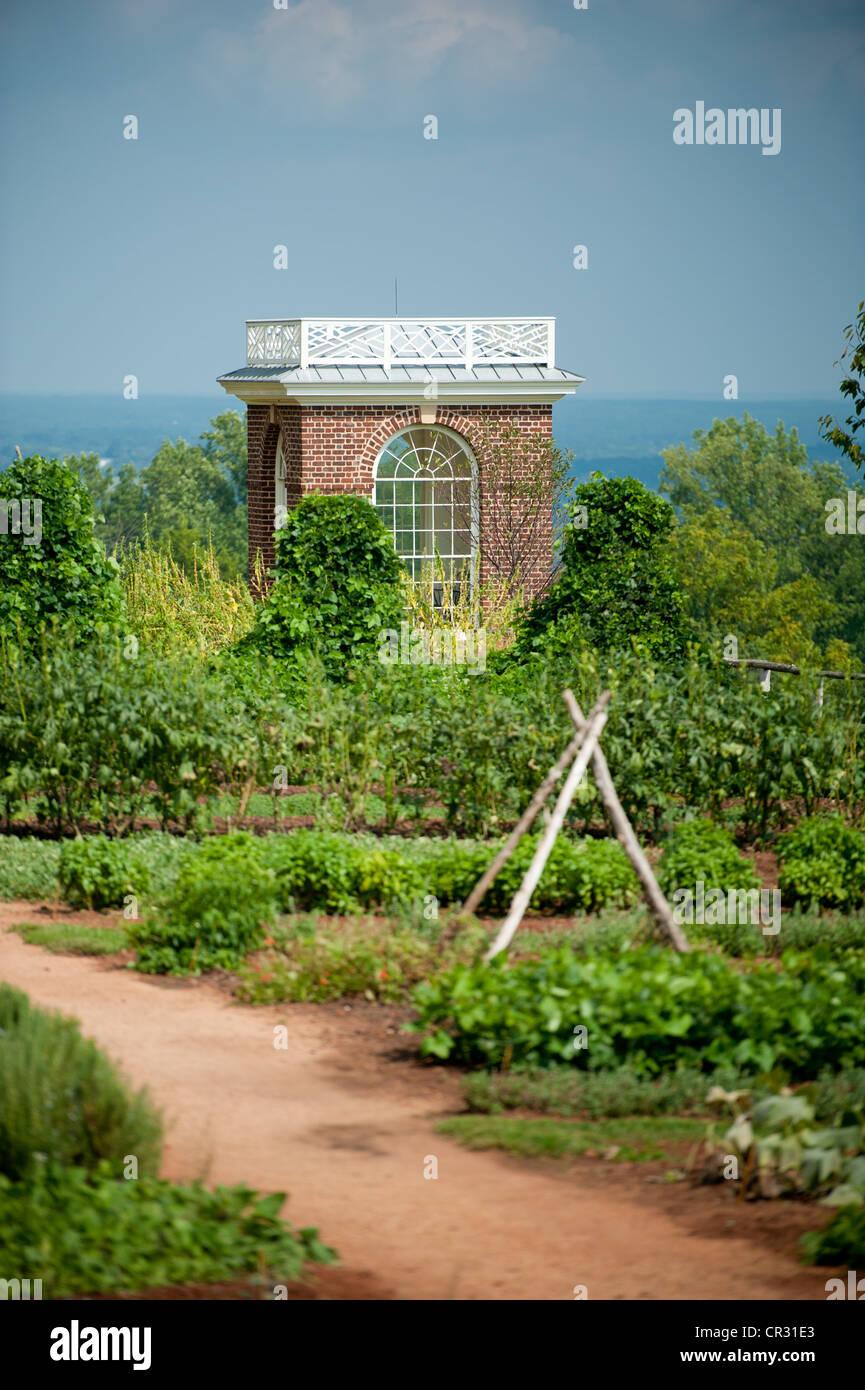 Gardens Of Thomas Jeffersonu0027s Monticello In Charlottesville VA