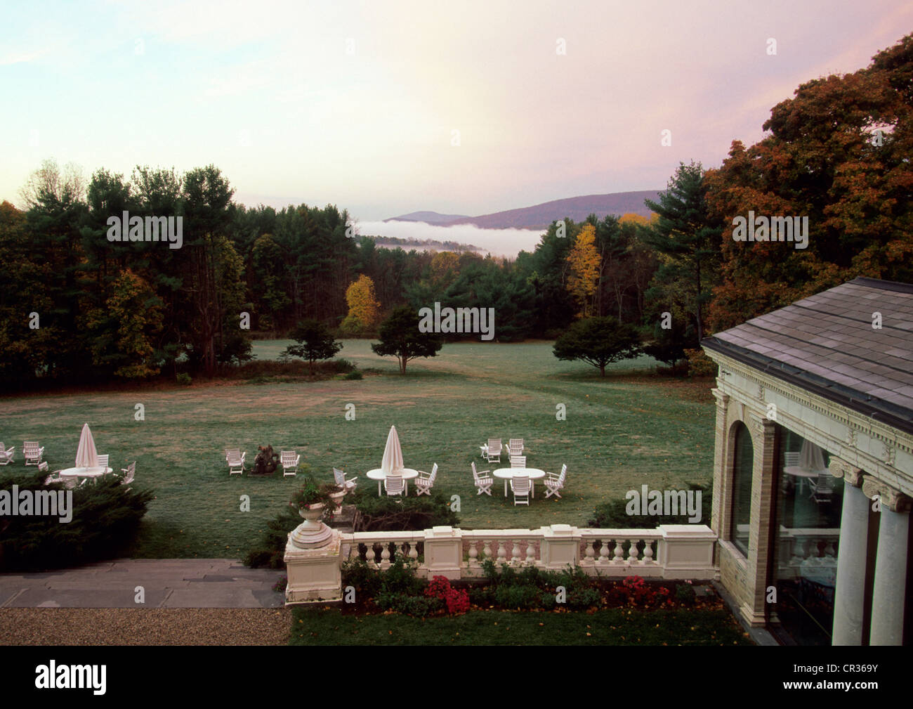 Stock photo united states massachusetts the berkshires lenox wheatleigh inn luxury hotel