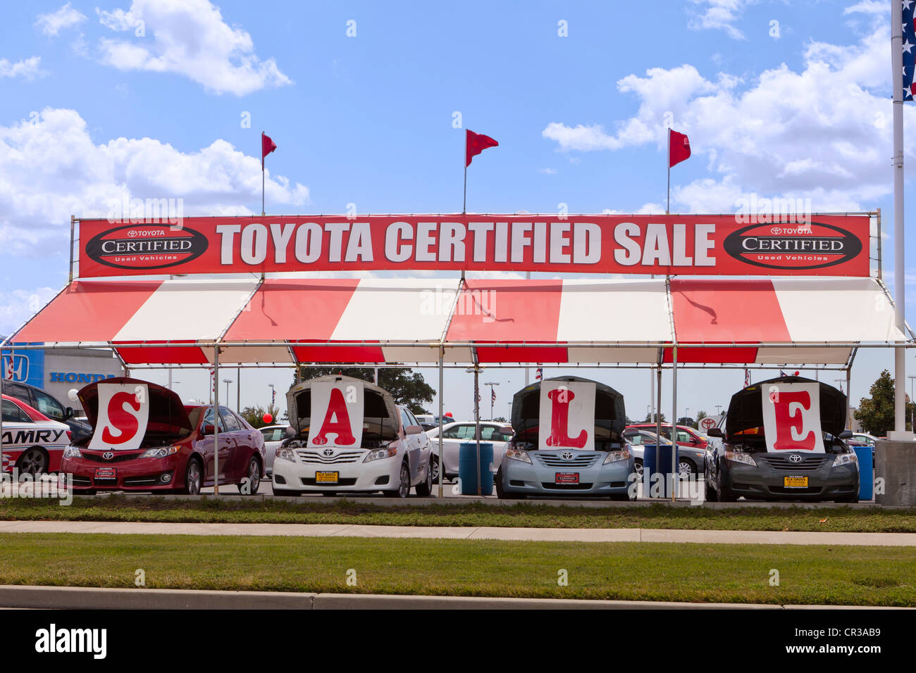Toyota Certified used car sales lot - California USA Stock Photo ...
