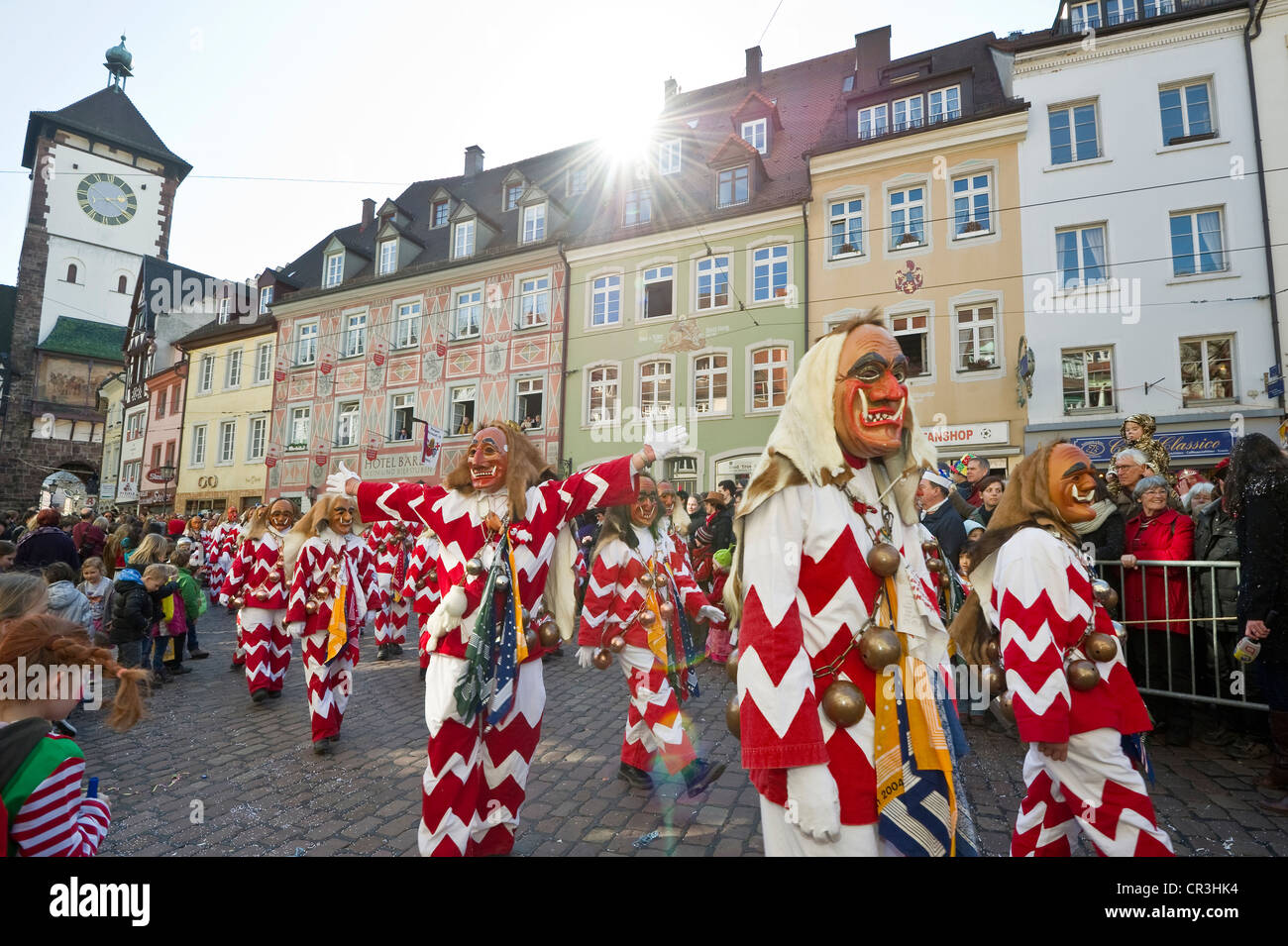 carnival rose monday procession in freiburg im breisgau black stock photo royalty free image. Black Bedroom Furniture Sets. Home Design Ideas