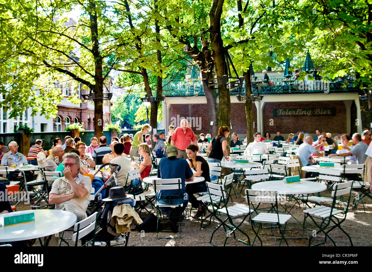 beer garden of feierling brewery freiburg baden wuerttemberg stock photo royalty free image. Black Bedroom Furniture Sets. Home Design Ideas