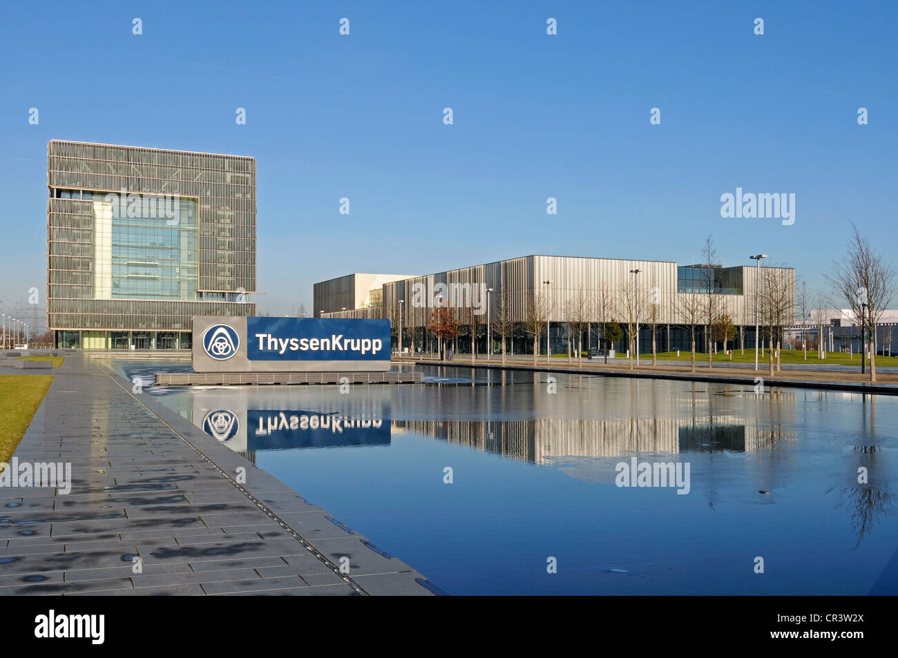 thyssenkrupp headquarters krupp town steel industry essen ruhr stock photo royalty free. Black Bedroom Furniture Sets. Home Design Ideas