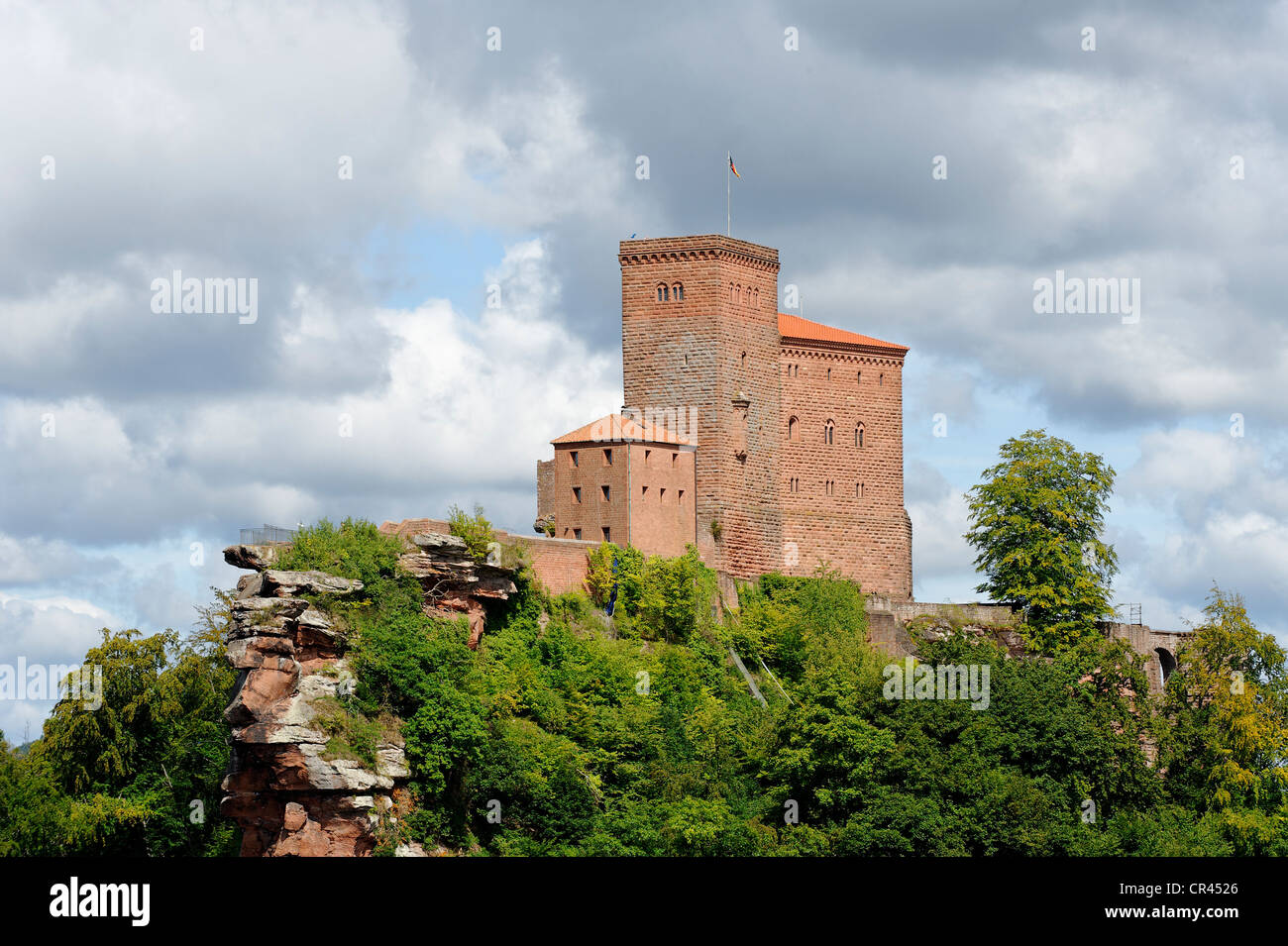burg trifels castle near annweiler am trifels german wine route stock photo royalty free image. Black Bedroom Furniture Sets. Home Design Ideas