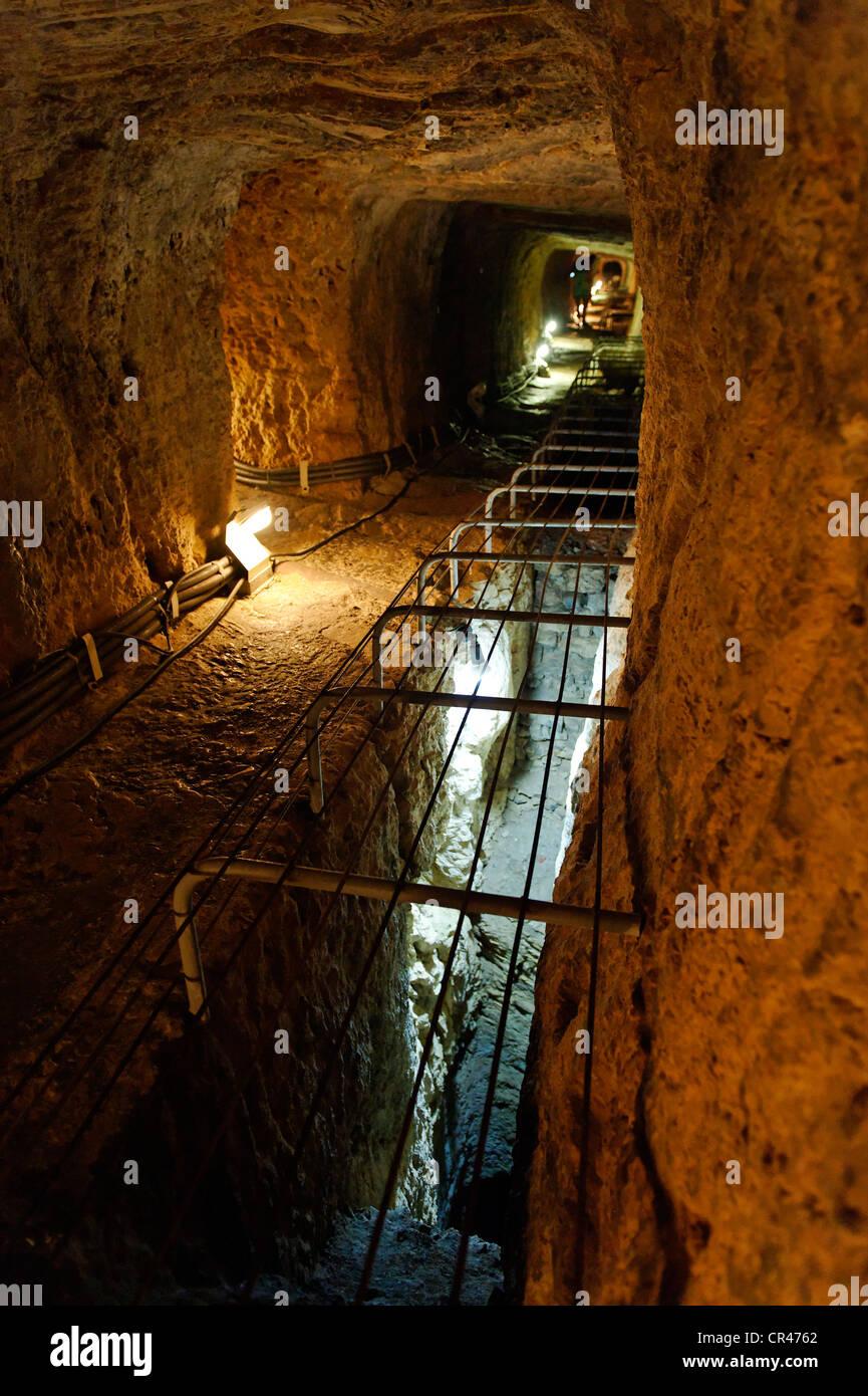 Tunnel Of Eupalinos Or Eupalinian Aqueduct, Near ...