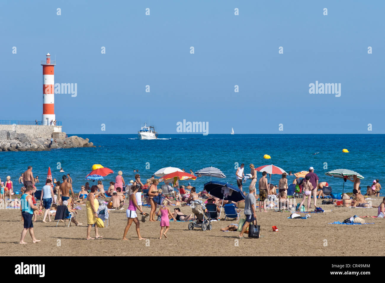 France, Aude, Corbieres, Port la Nouvelle, seaside resort since the ...