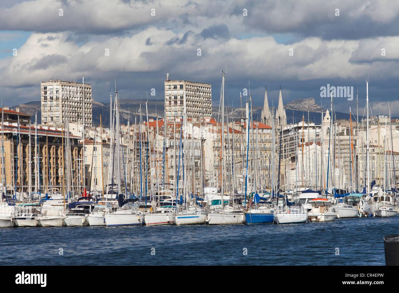 Vieux port old port of marseille bouches du rhone for Rhone marseille