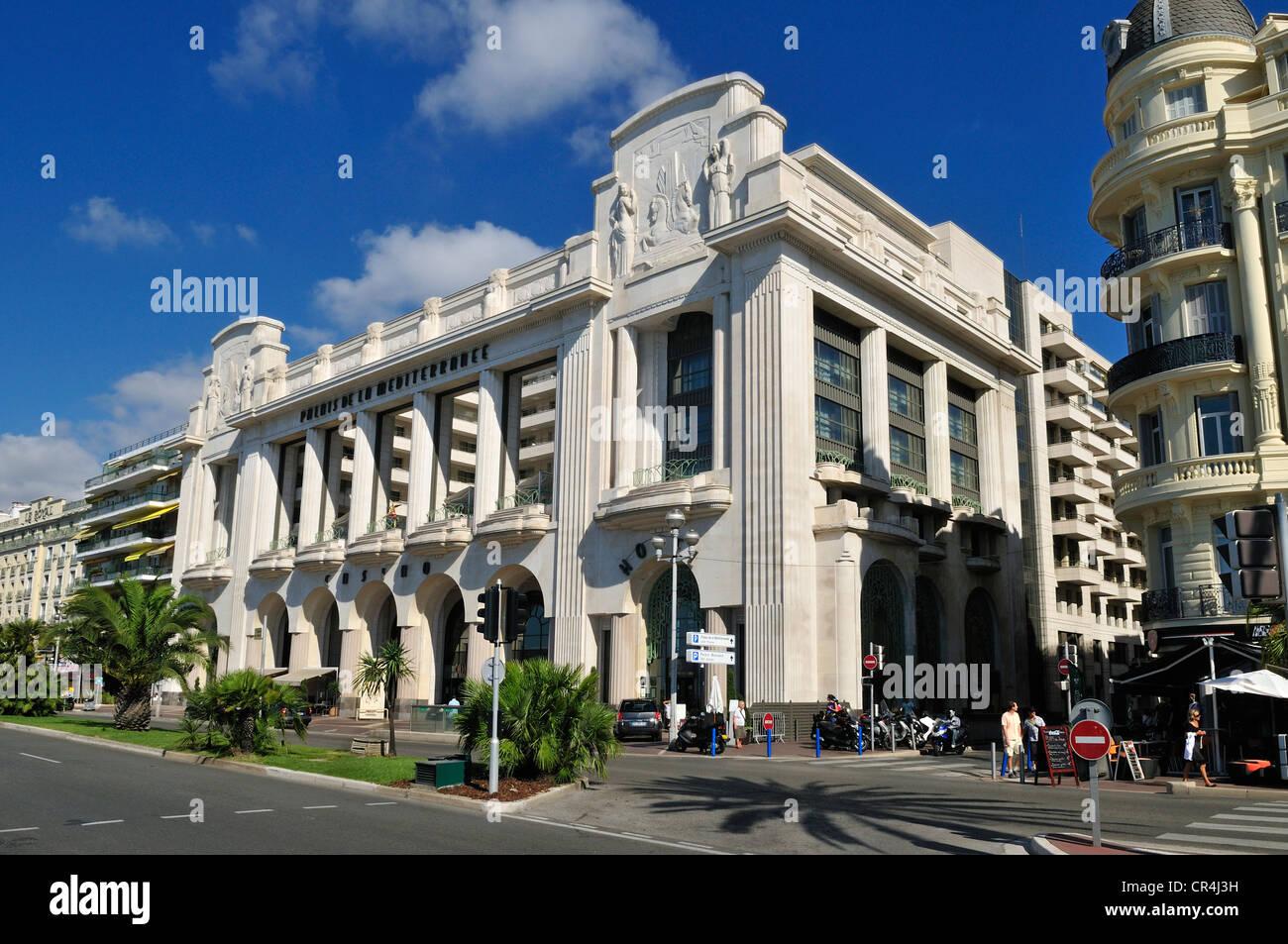 Art Deco building at Promenade des Anglais, Nice, Nizza, Cote d ...