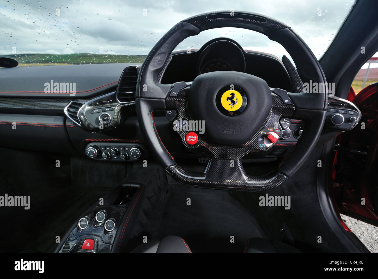 Ferrari Italia Red Italian Supercar Steering Wheel And