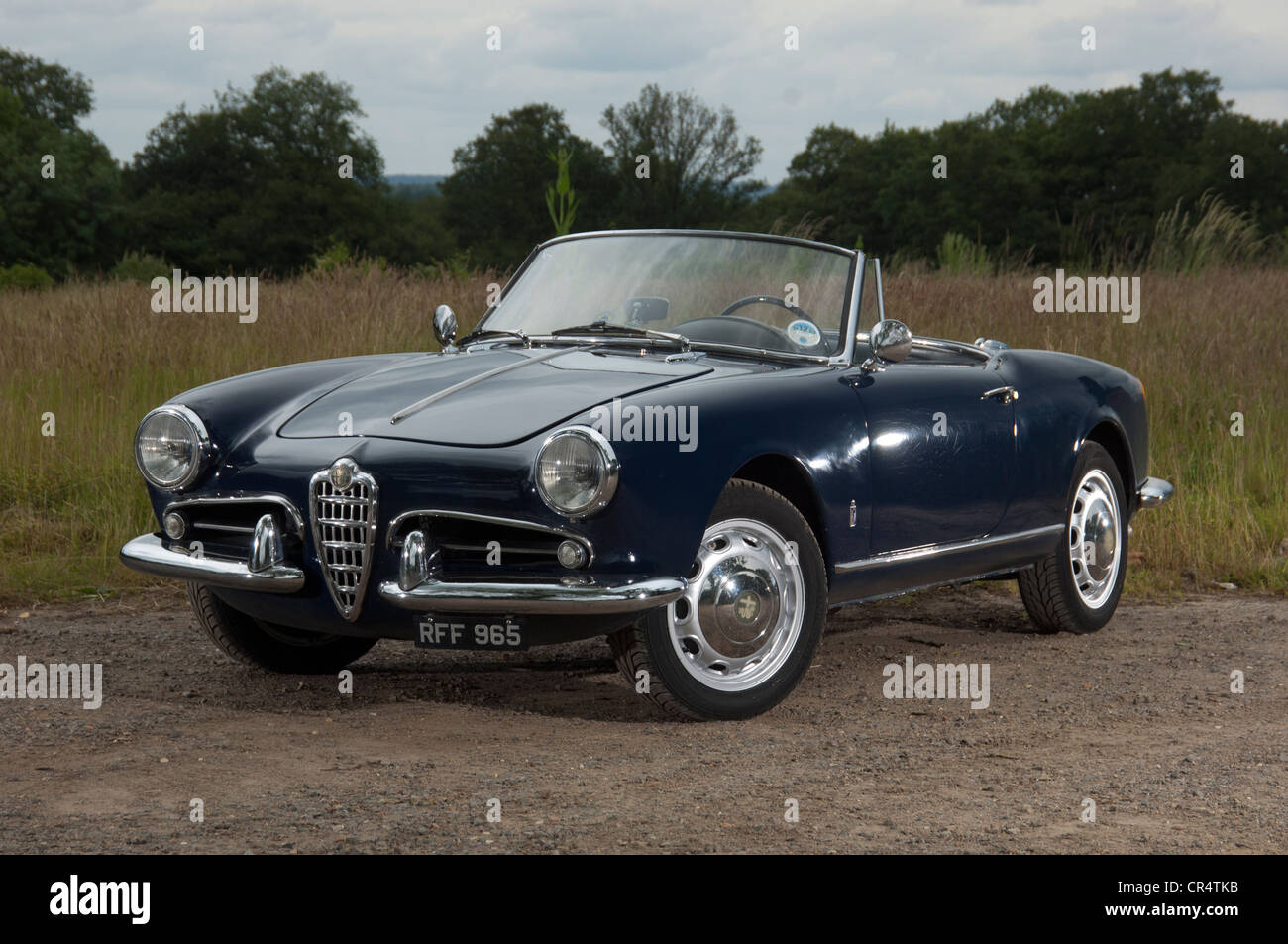 alfa romeo giulietta spider convertible italian sports car stock photo royalty free image. Black Bedroom Furniture Sets. Home Design Ideas