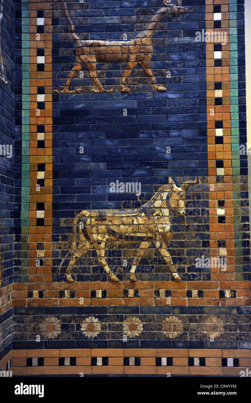 Mesopotamian Art Neo Babylonian Ishtar Gate A Dragon And An Stock Photo R