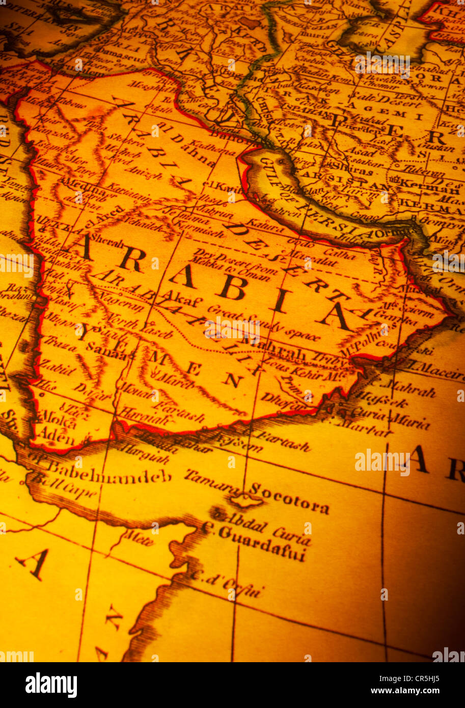 Ancient Map Showing Saudi Arabia Focus Is On The Word Arabia Map – Map of Uae and Saudi Arabia