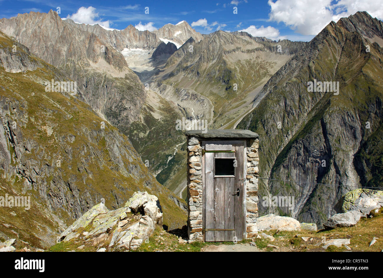 Swiss Mountain House toilet house with the best view in the swiss alps, wiwanni hut