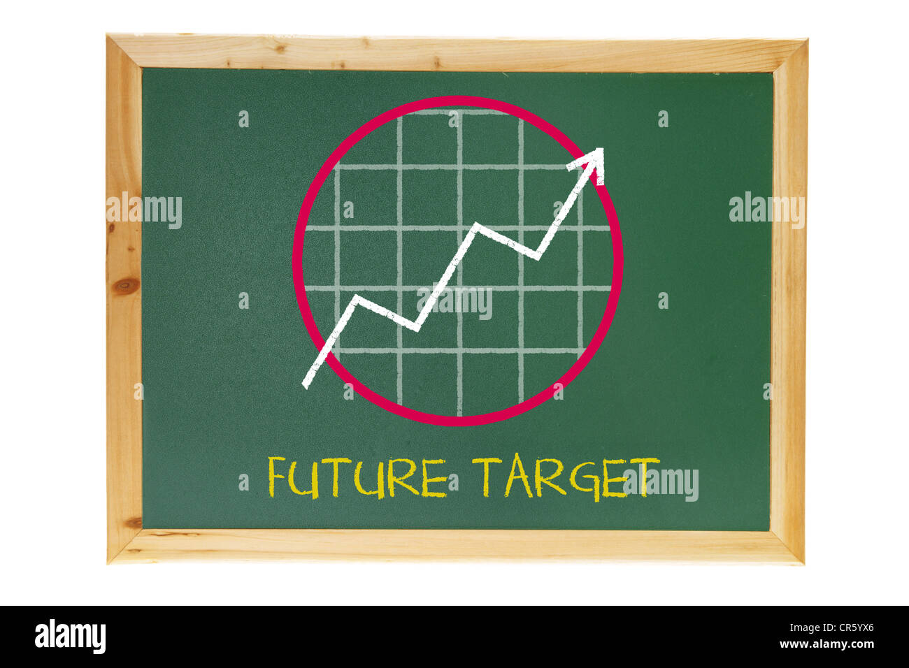 Black board with business growth chart stock photo royalty free black board with business growth chart geenschuldenfo Images