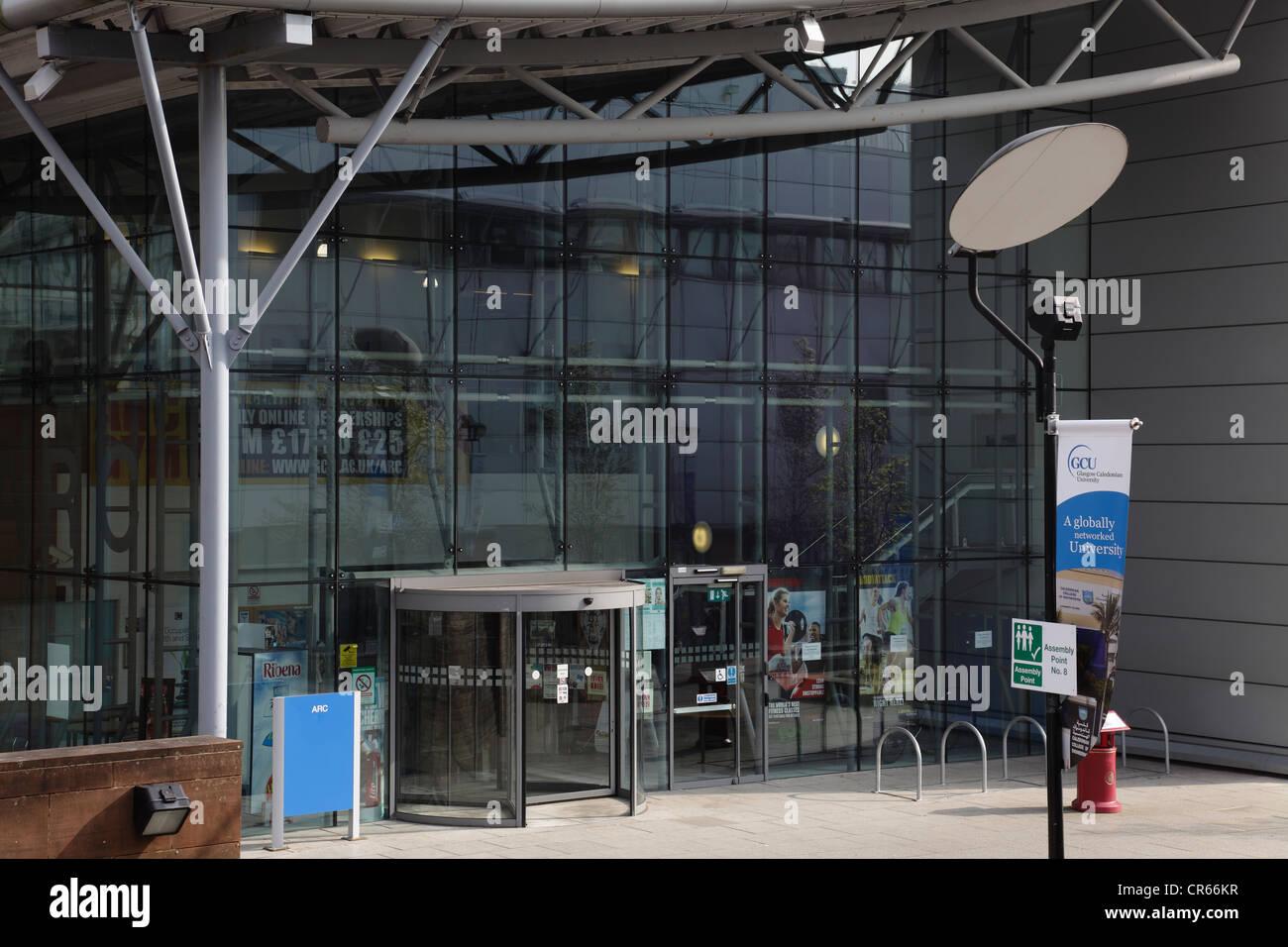 Entrance To The ARC Recreation Centre At Glasgow Caledonian University Campus Scotland UK