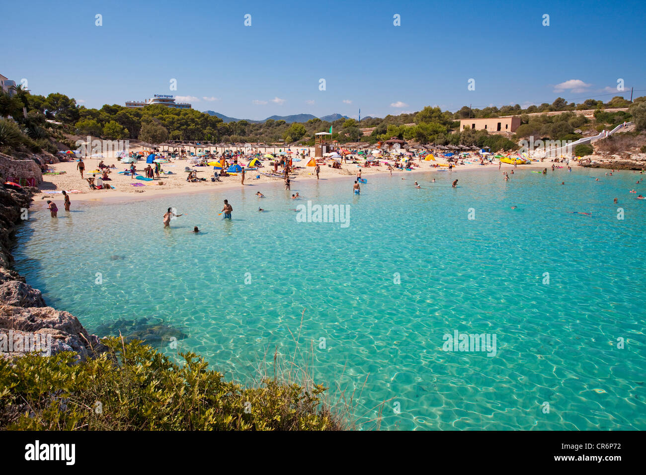 Cala Marcal beach, Porto Colom, Felanitx, Majorca, Balearic islands Stock Pho...