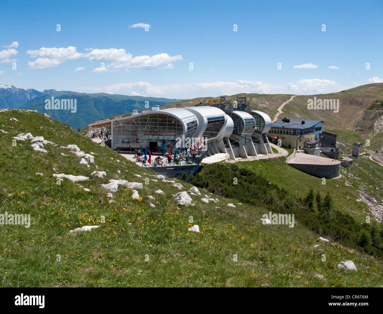 Cable Car Station On Mt Monte Baldo Massif Malcesine Garda