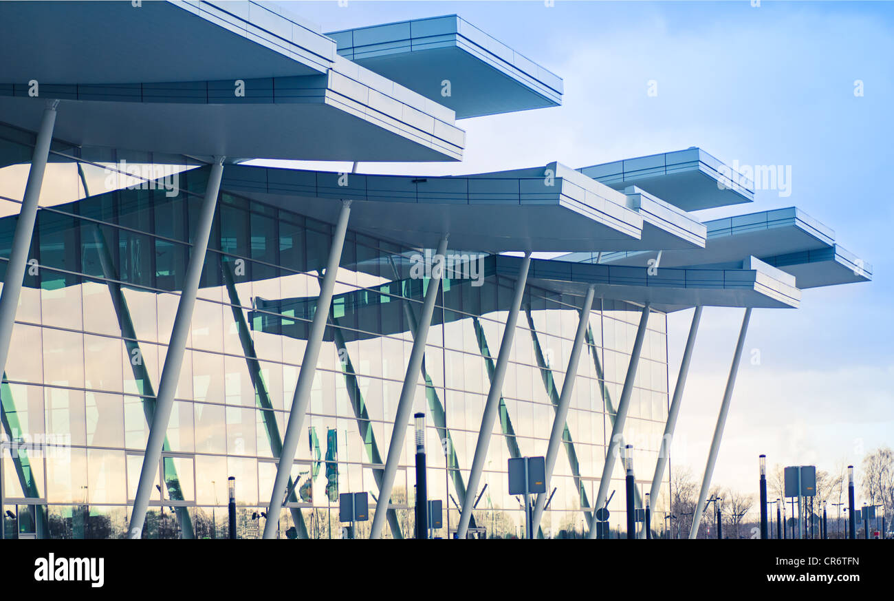 Modern international airport terminal in Wroclaw, Poland ...