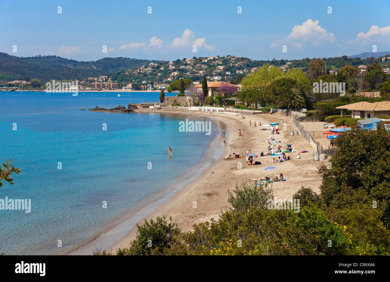 Beach Of Agay District Of Saint Raphael Alpes Maritimes Cote Stock Photo Royalty Free Image