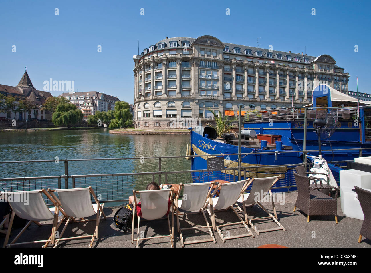 Strasbourg plage sans la plage or beach without beach on the banks of stock photo royalty free - La chaise longue strasbourg ...