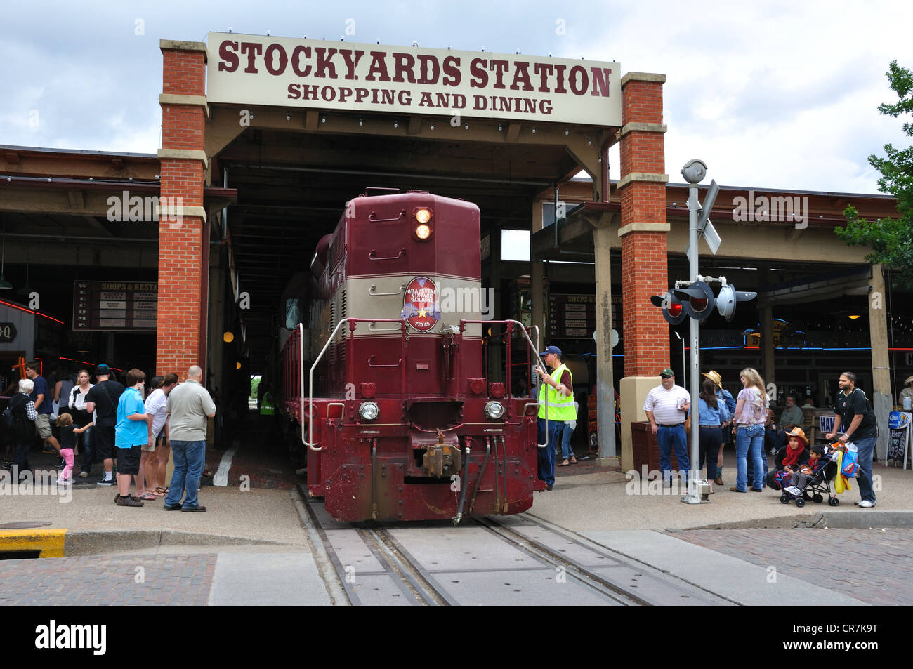 Grapevine Railroad Stop At Stockyards Station Fort Worth