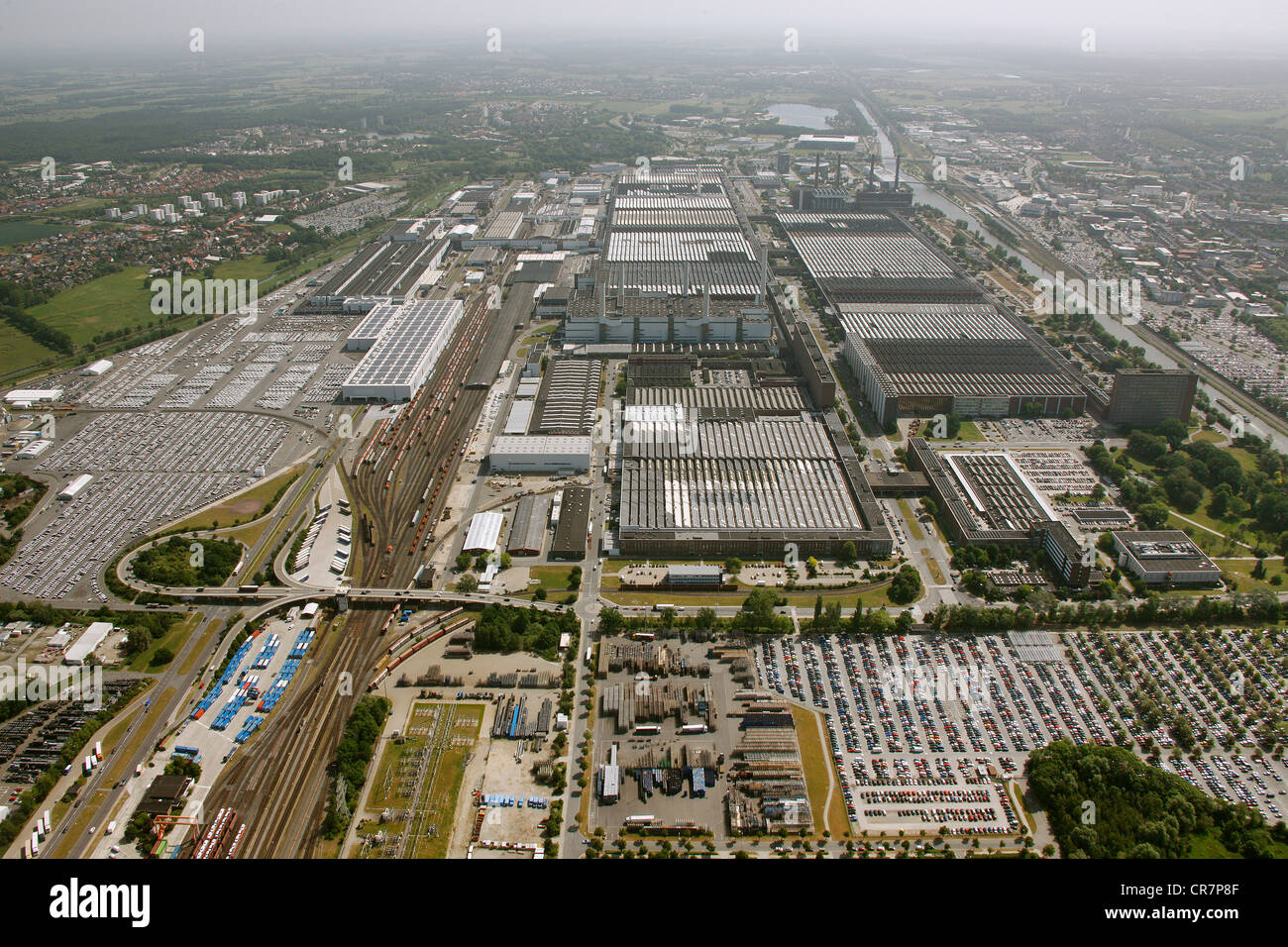 aerial view vw car factory volkswagen plant wolfsburg. Black Bedroom Furniture Sets. Home Design Ideas