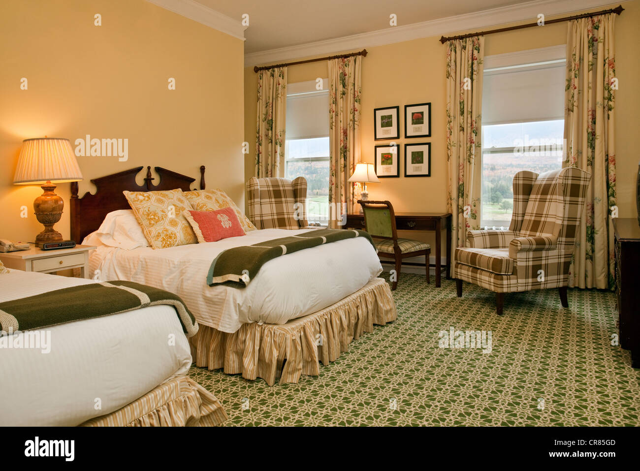 Stock photo united states new england new hampshire bretton woods luxury hotel mount washington resort one of the rooms