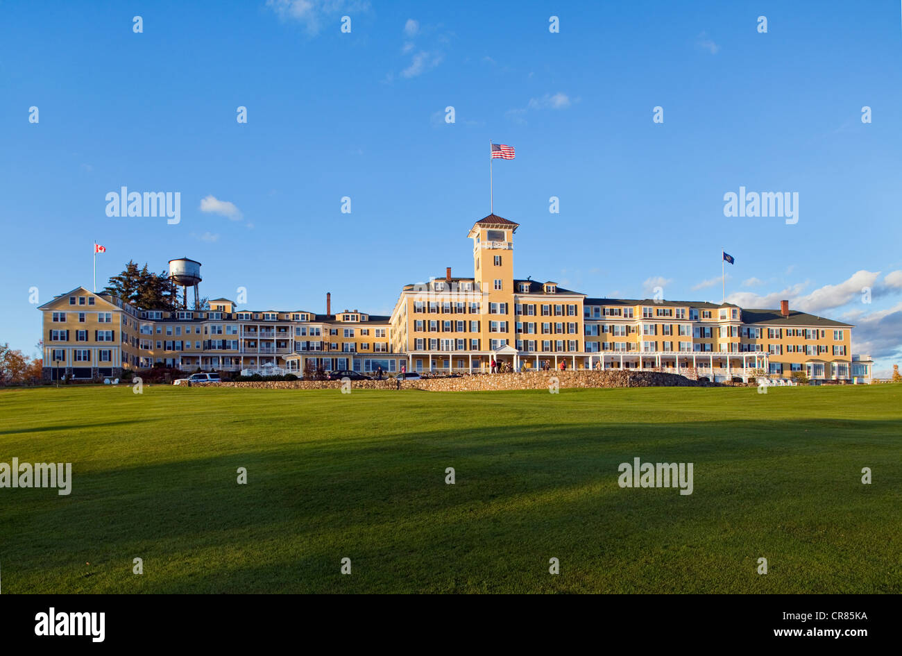 Stock photo united states new england new hampshire whitefield luxury hotel mountain view grand resort