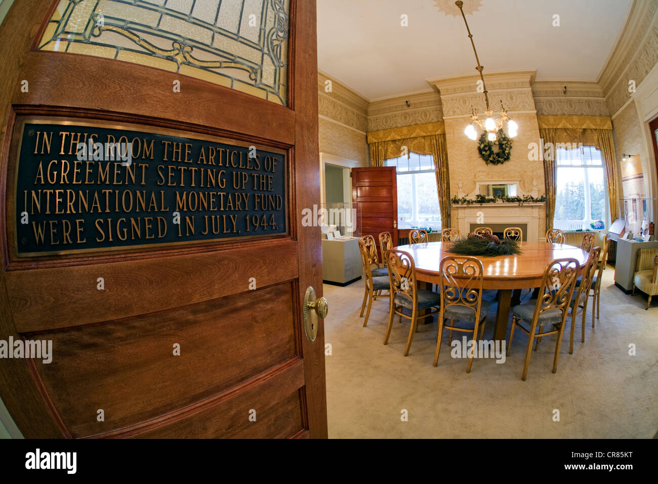 Stock photo united states new england new hampshire white mountain national forest bretton woods luxury hotel mount washington resort