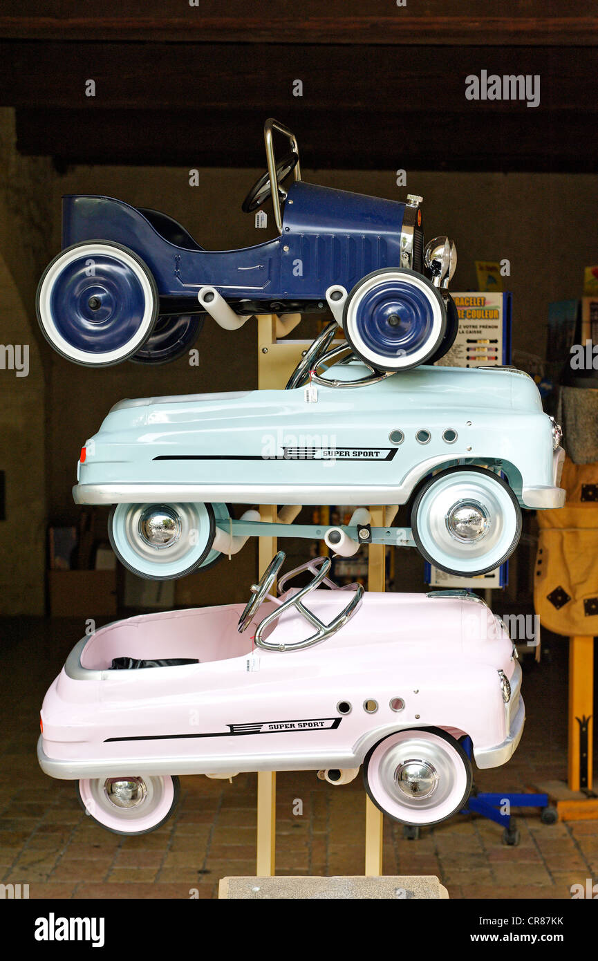 France, Gard, Uzes, listed as town of art and history, pedal cars ...