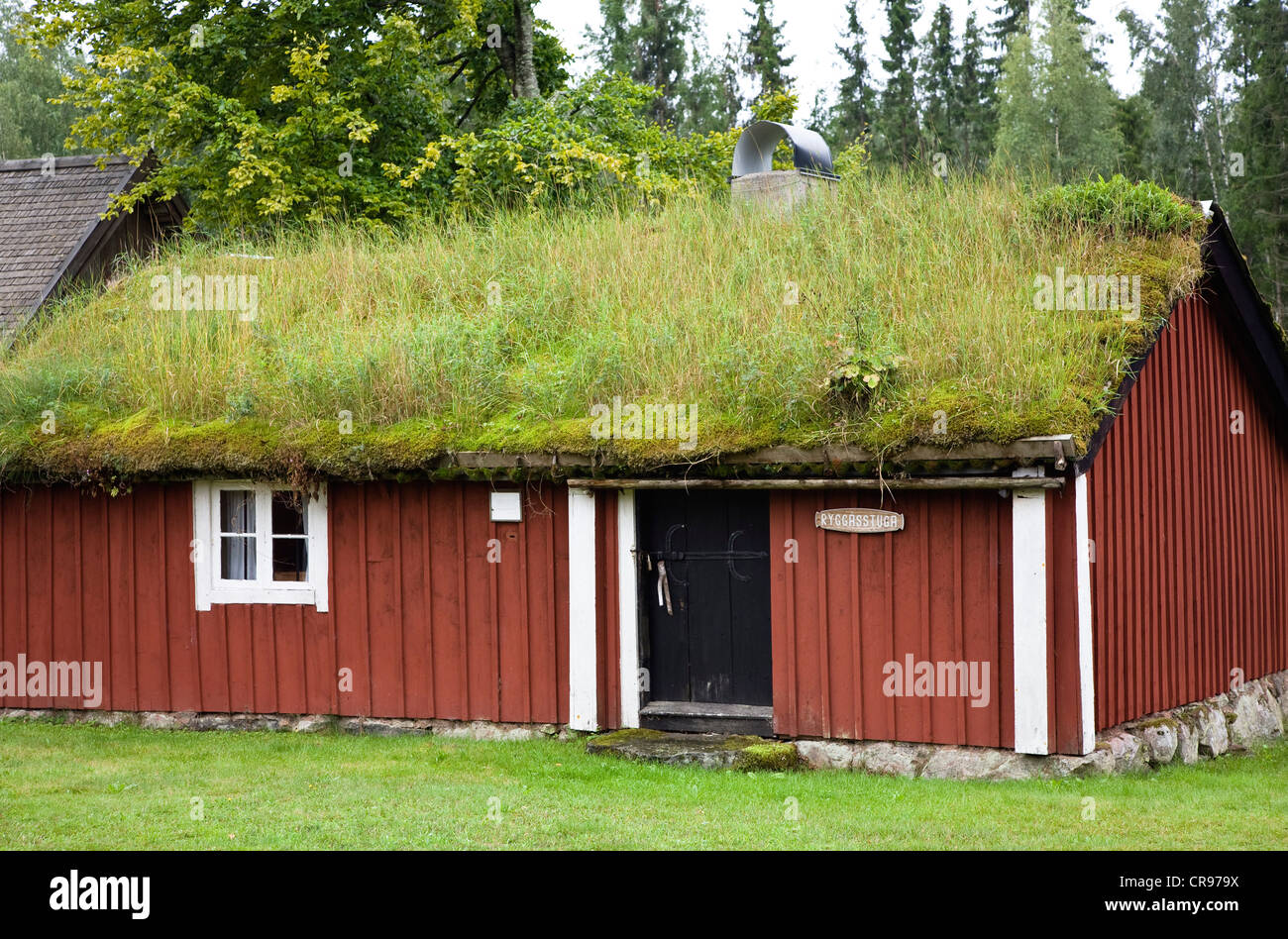 Typical Swedish House With Grass Roof Julita Museum Of - Julita sweden map