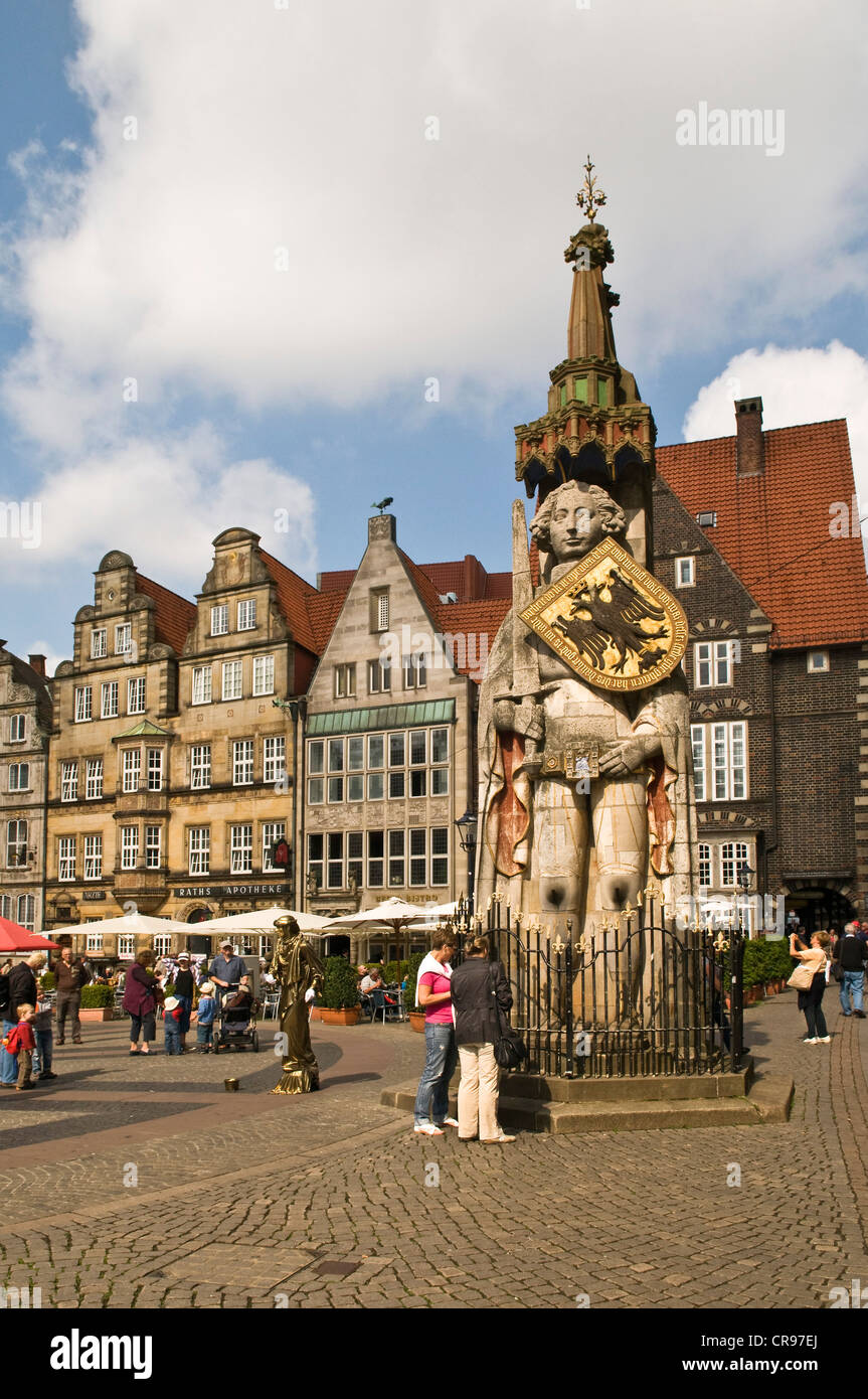 Bremen roland statue symbol of the town at bremen town hall bremen roland statue symbol of the town at bremen town hall since 1404 symbol of law and freedom biocorpaavc Choice Image