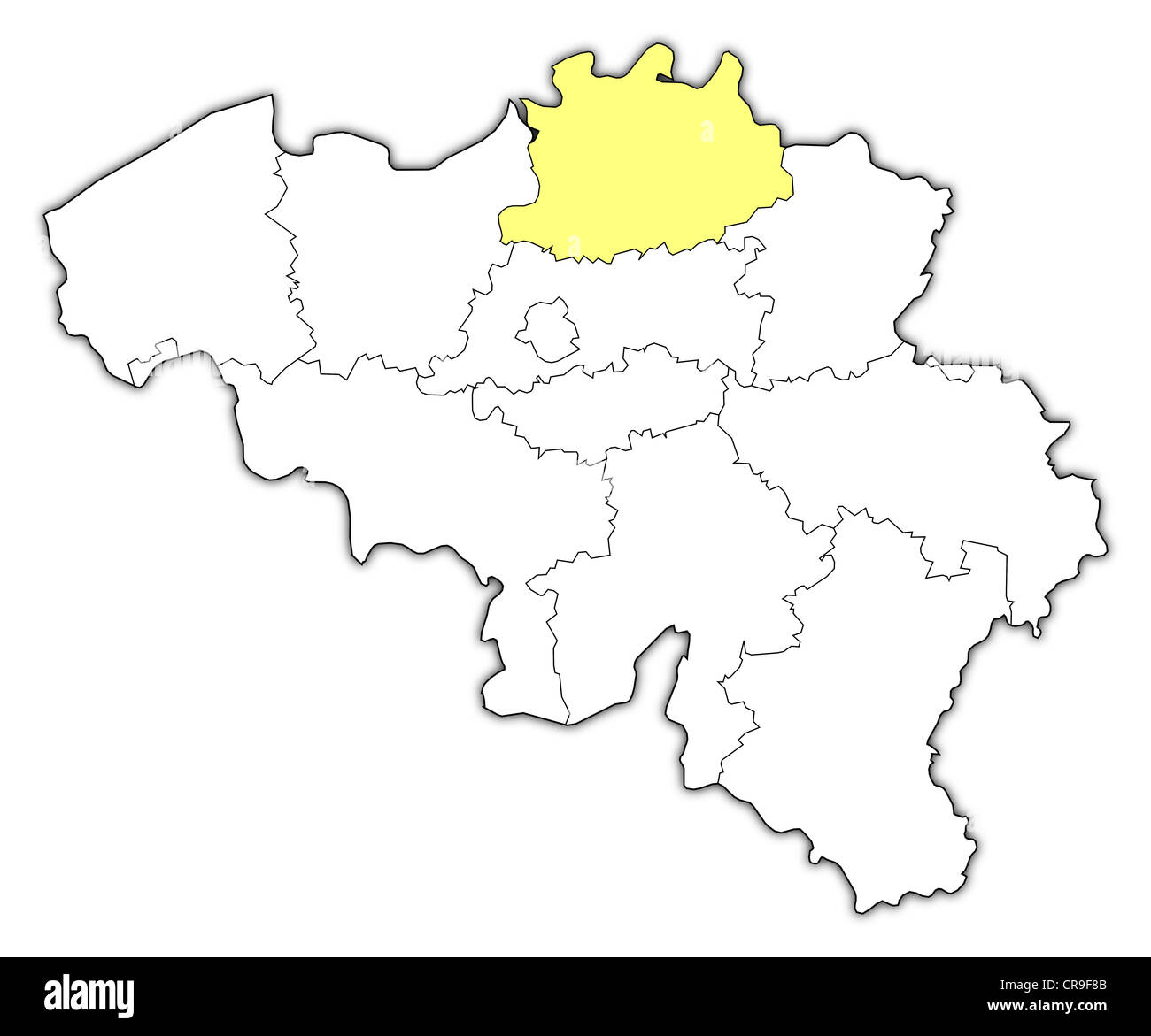 Political map of belgium with the several states where antwerp is political map of belgium with the several states where antwerp is highlighted gumiabroncs Image collections