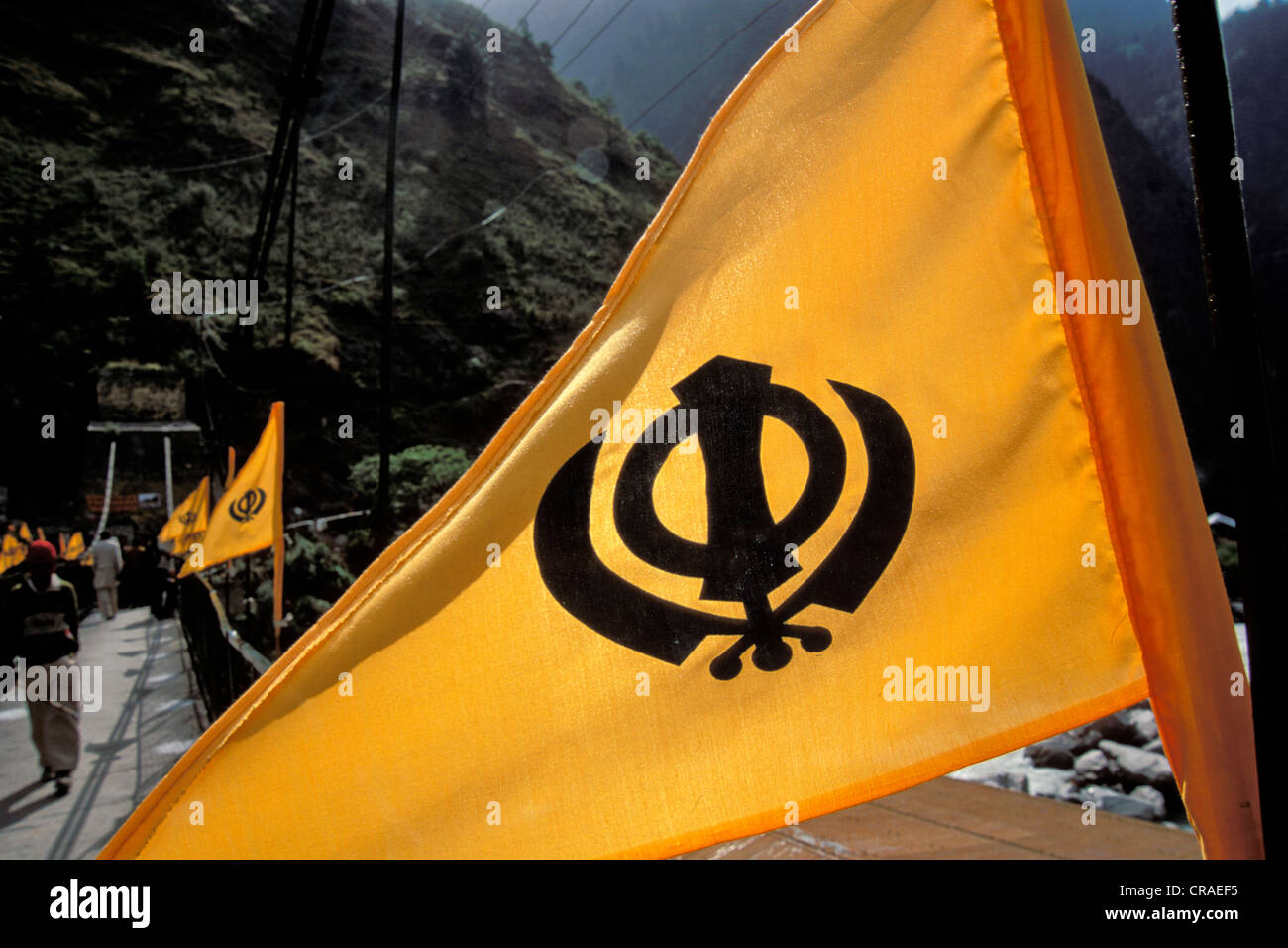 Sikh Khanda Flag Stock Photos & Sikh Khanda Flag Stock Images - Alamy