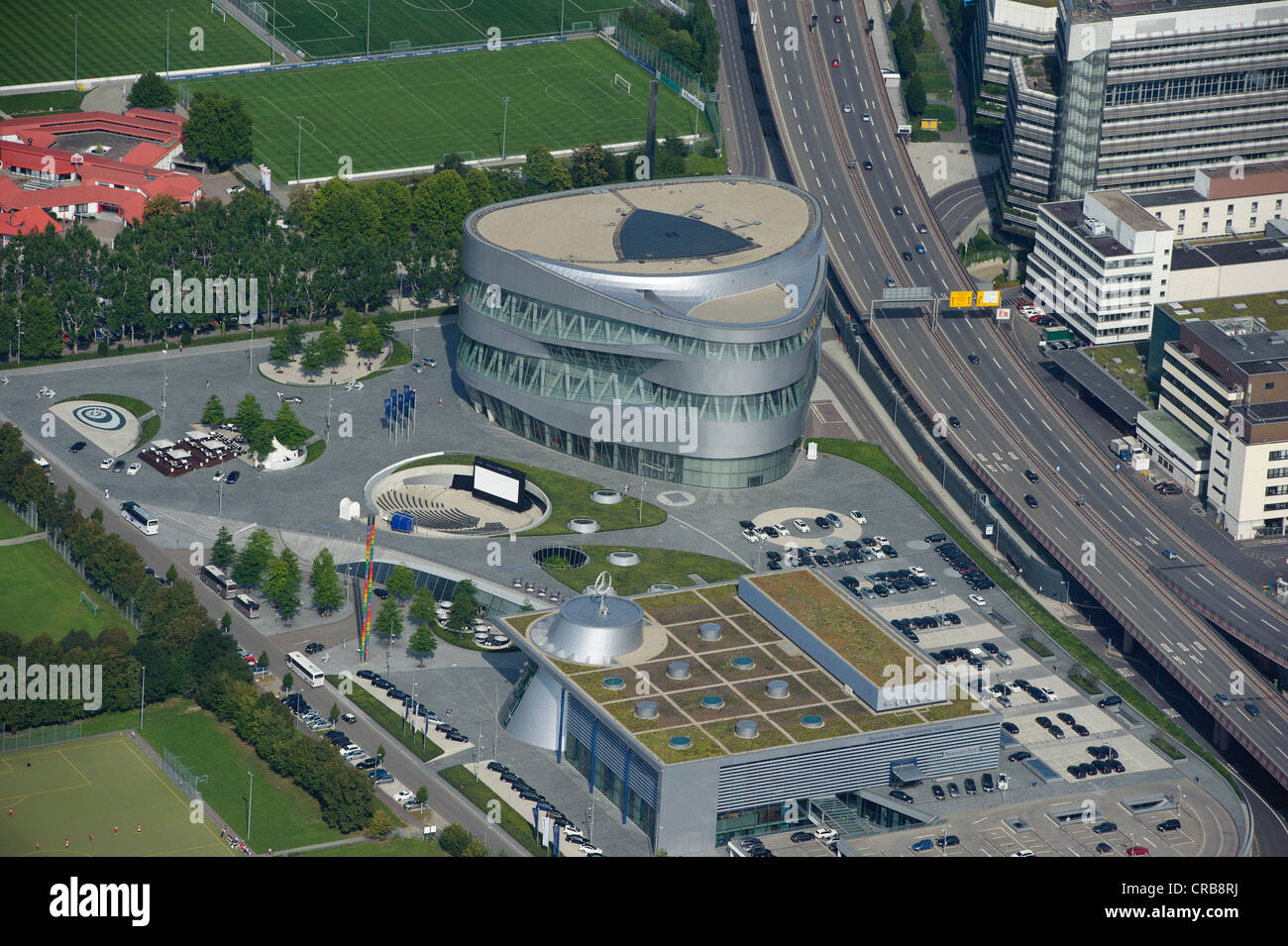 aerial view mercedes benz museum stuttgart baden. Black Bedroom Furniture Sets. Home Design Ideas