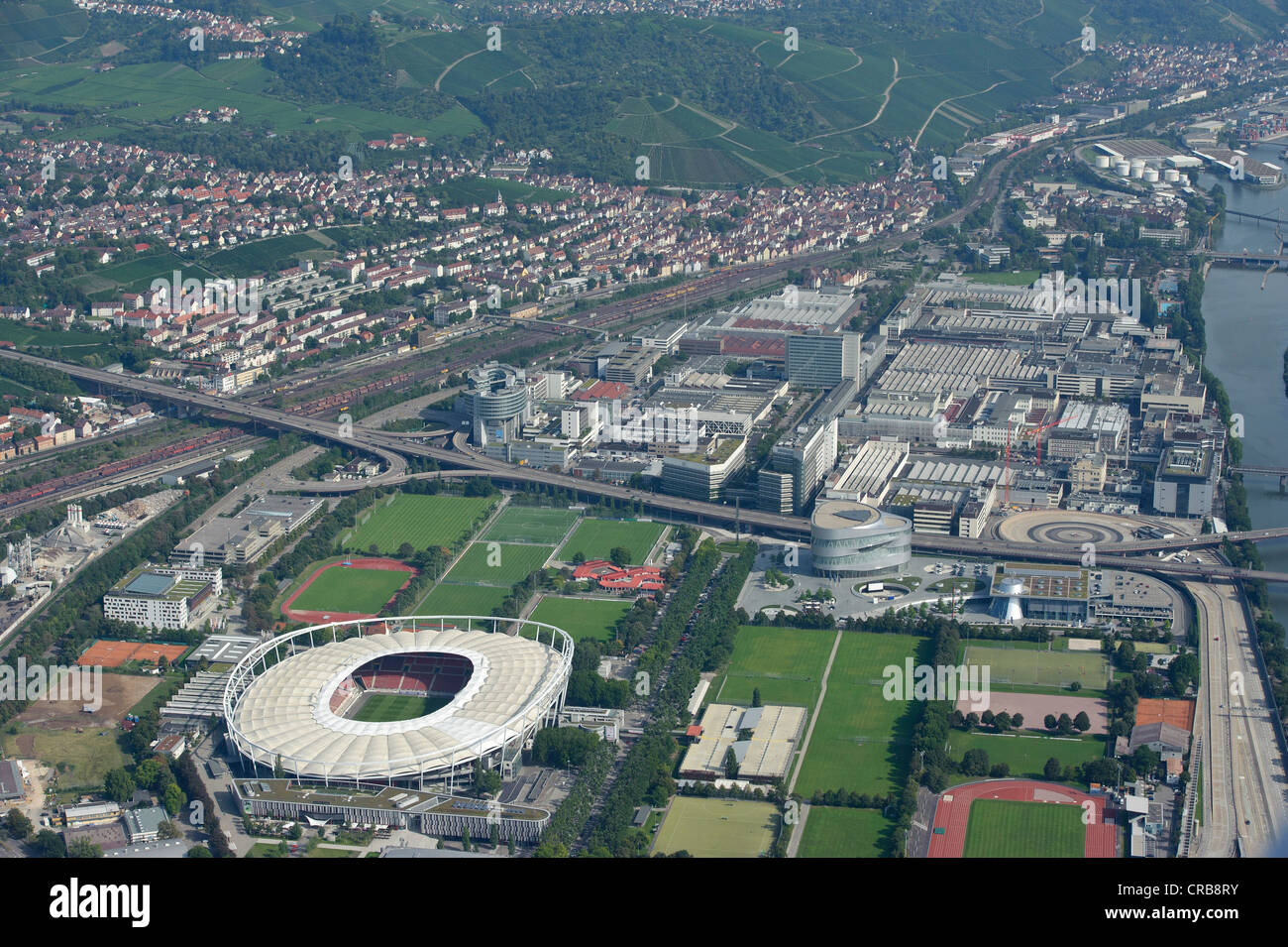aerial view neckarpark vfb stuttgart football stadium stock photo 48806239 alamy. Black Bedroom Furniture Sets. Home Design Ideas