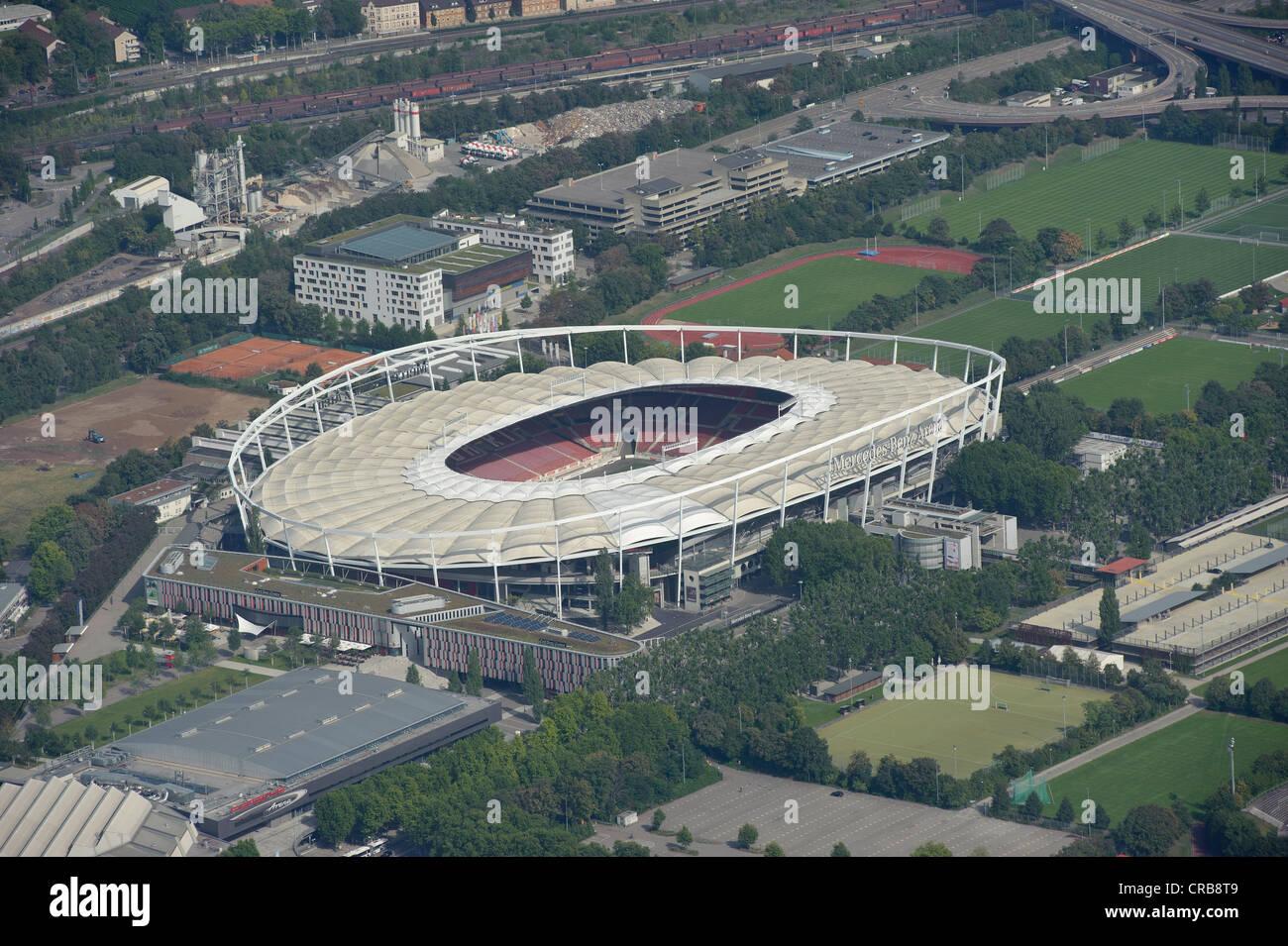 Aerial View Neckarpark Vfb Stuttgart Football Stadium