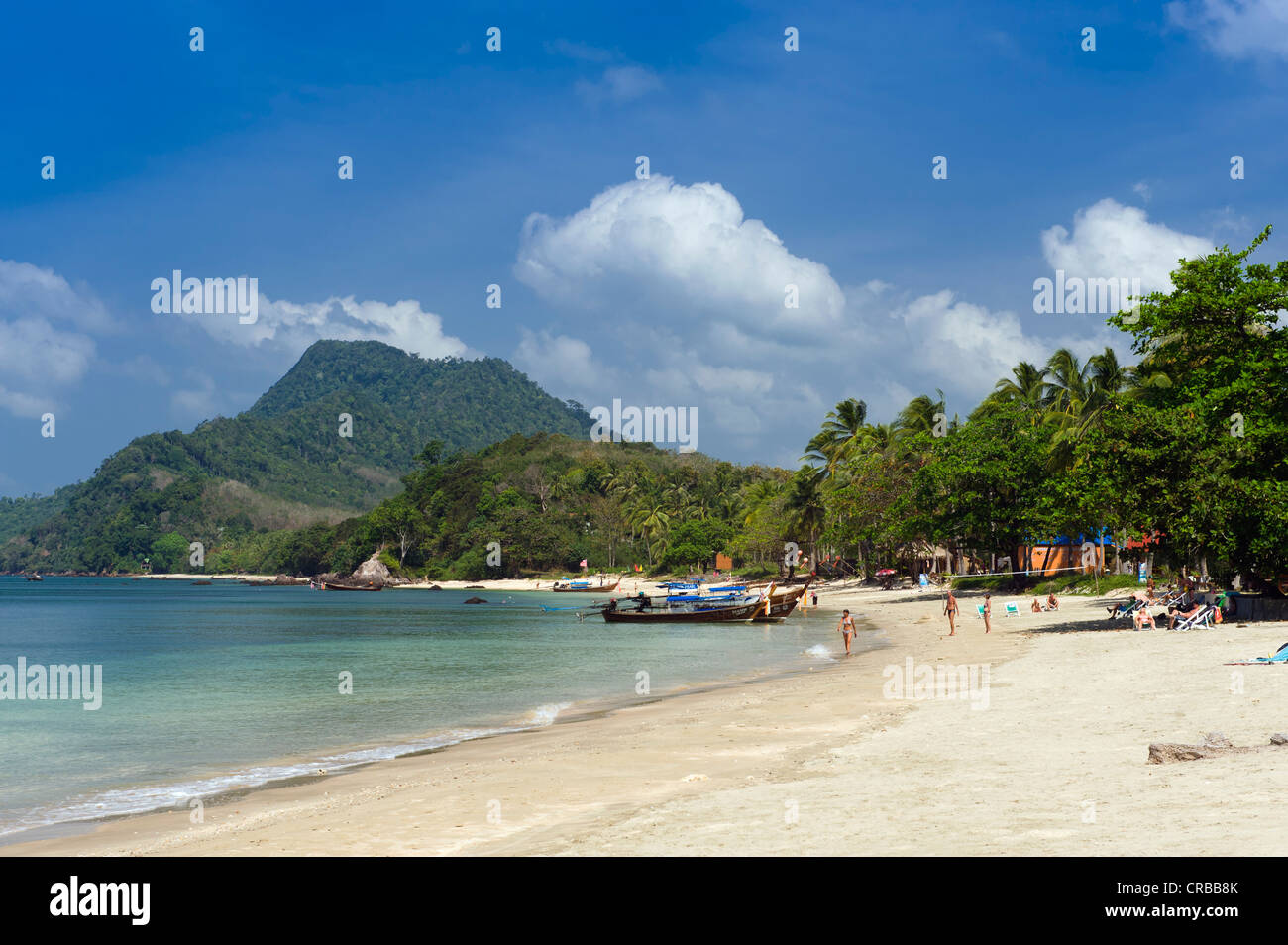 Palm Beach, Golden Pearl Beach, Ko Jum Or Koh Pu Island, Krabi Stock Photo, R...