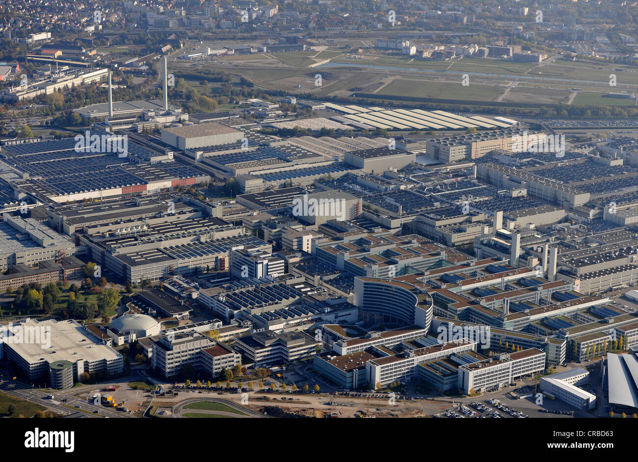 aerial view daimler ag plant in leinfelden echterdingen former stock photo royalty free image. Black Bedroom Furniture Sets. Home Design Ideas