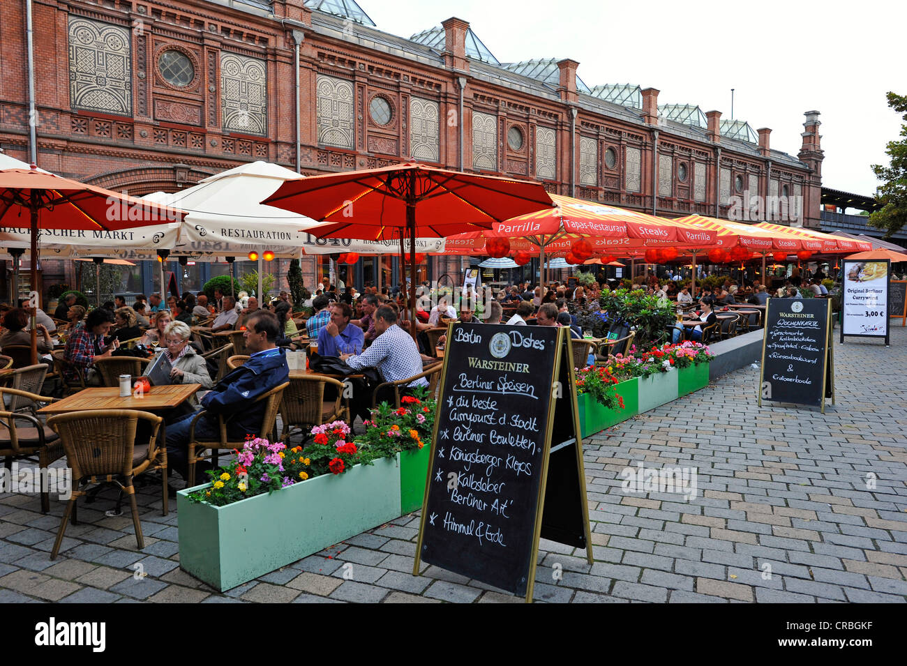restaurants hackescher markt mitte district berlin germany stock photo royalty free image. Black Bedroom Furniture Sets. Home Design Ideas